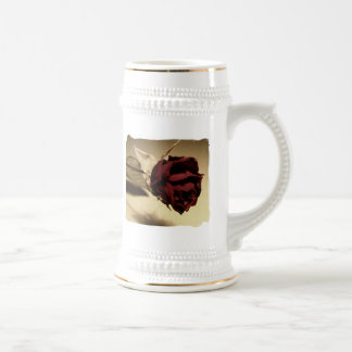 Dried Rose Photograph - Color 18 Oz Beer Stein