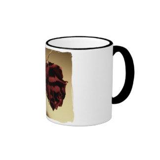 Dried Rose Photograph - Color Ringer Coffee Mug