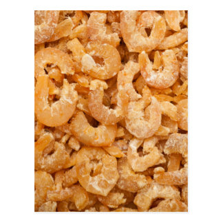 Dried shrimps postcard