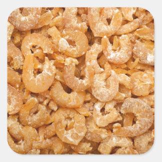 Dried shrimps square sticker