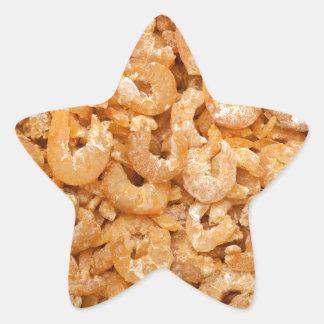 Dried shrimps star sticker