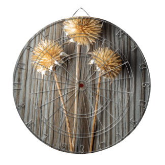 Dried Sun Flower Dartboard