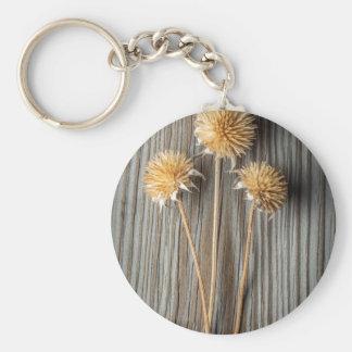 Dried Sun Flower Keychain