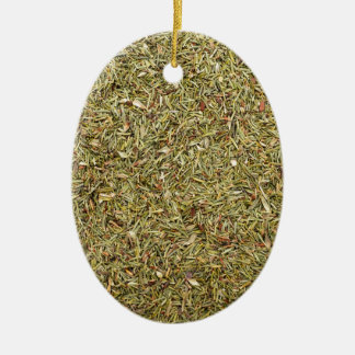 dried thyme texture ceramic ornament