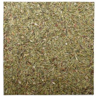 dried thyme texture napkin