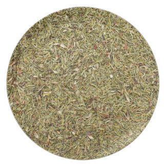 dried thyme texture plate