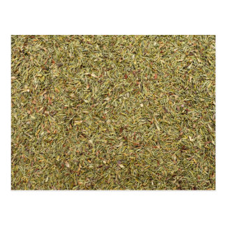 dried thyme texture postcard