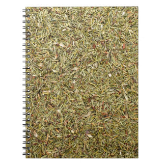 dried thyme texture spiral notebook