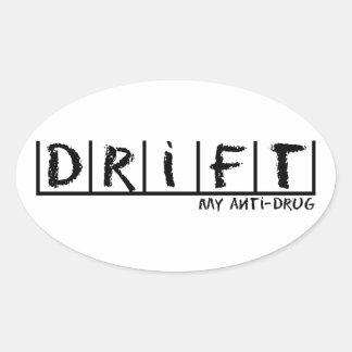 Drift Anti-Drug Oval Stickers
