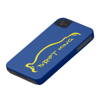 """Drift King"" STI  Blue / Yellow Silhouette Case-Mate iPhone 4 Case"