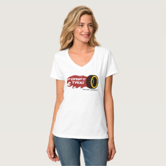 Drift Taxi Ladies V-Neck Tee