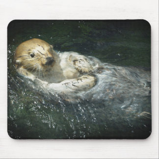 Drifting Away - Sea Otter Mouse Pad