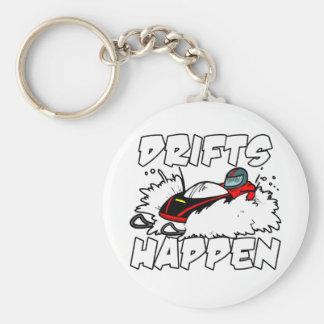 Drifts Happen Basic Round Button Keychain