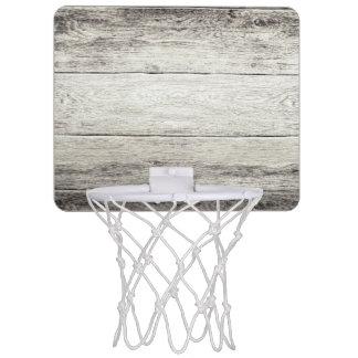 Driftwood Background Mini Basketball Hoop