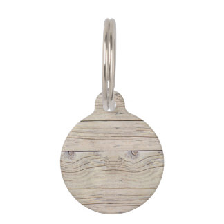Driftwood Background Texture Pet ID Tags