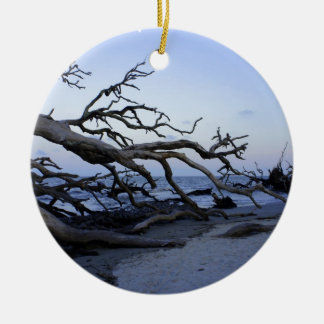 Driftwood Beach Ceramic Ornament
