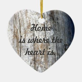 Driftwood Ceramic Heart Ornament