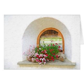 Driftwood Flowers Impressionism Card