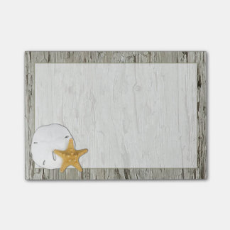 Driftwood Frame With Sand Dollar and Starfish Post-it® Notes