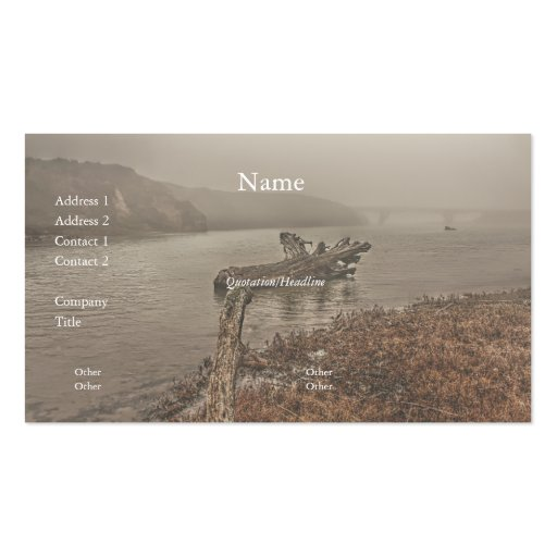 Driftwood in the Water Business Card Business Card Template