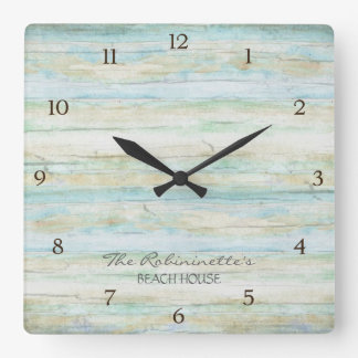 Driftwood Ocean Beach House Coastal Seashore Wallclock