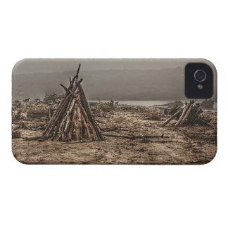 Driftwood on a Foggy Beach Blackberry Bold Case