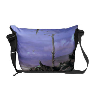 Driftwood on Beach Courier Bags