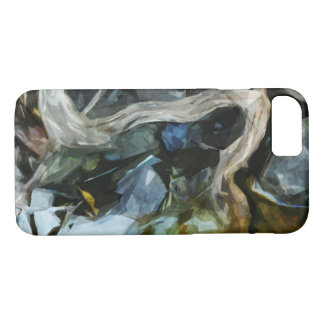 Driftwood on River Rocks Abstract Impressionism iPhone 7 Case