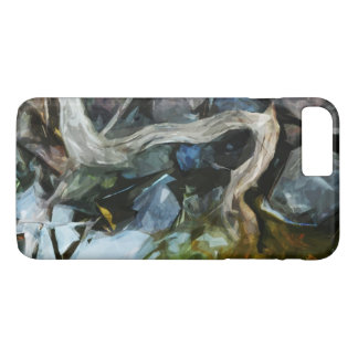 Driftwood on River Rocks Abstract Impressionism iPhone 7 Plus Case