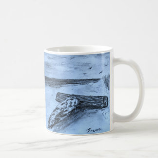 Driftwood On The Beach Coffee Mug
