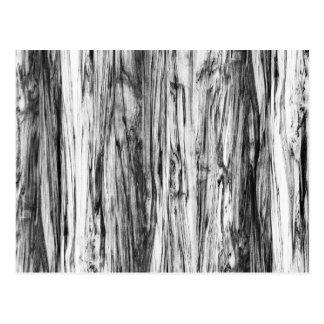 Driftwood pattern - black, white and grey postcard