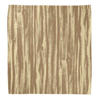 Driftwood pattern - cocoa brown and tan bandana