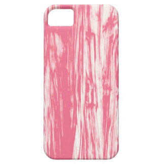 Driftwood pattern - coral pink and white iPhone 5 case