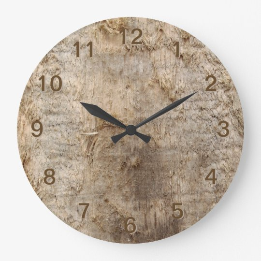 Driftwood Picture. Image of Weathered Wood. Large Clock