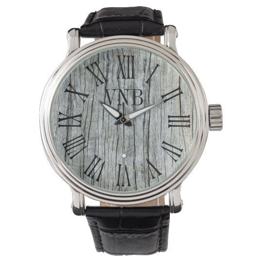 Driftwood Weathered Grey Personalized Watch