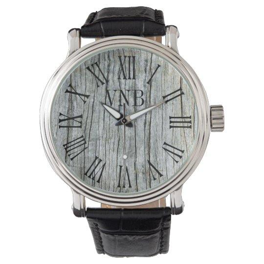Driftwood Weathered Grey Personalized Wrist Watch