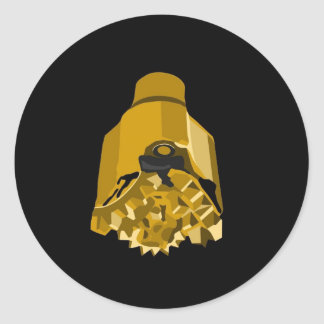 drill bit black classic round sticker
