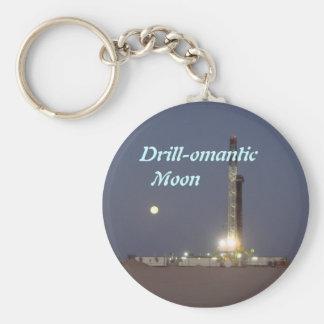 Drill-omantic  Moon Keychain