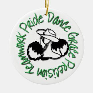 Drill Team - Dance Grace Precision Teamwork Pride Ceramic Ornament