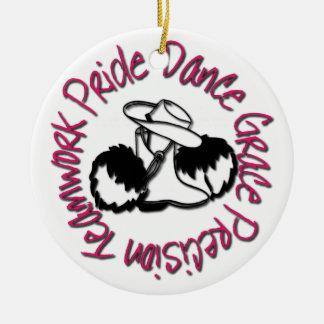 Drill Team - Dance Grace Precision Teamwork Pride Round Ceramic Ornament