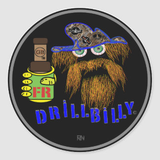 DRILLBILY BLUE Oilfield Classic Round Sticker