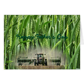 Drilling Kansas wheat #4- customize any occasion Card
