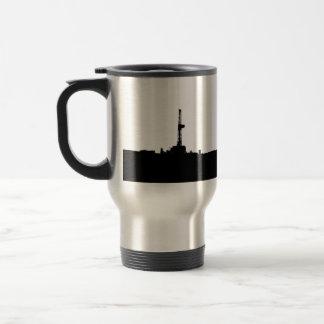 Drilling Rig Silhouette Travel Mug