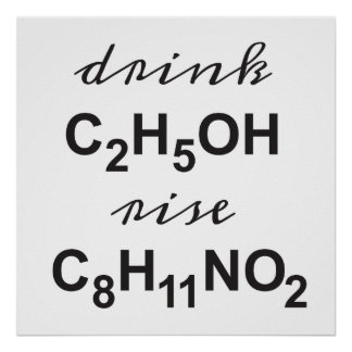 drink alcohol - rise your dopamine poster