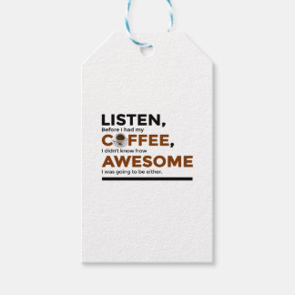 Drink Coffee Be Awesome Gift Tags