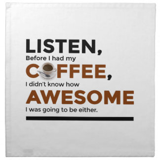 Drink Coffee Be Awesome Napkin