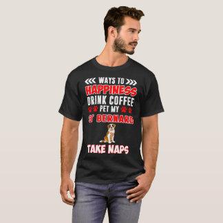 Drink Coffee Pet St Bernard Take Naps Tshirt