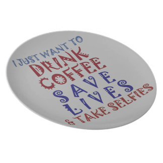 Drink coffee Save lives Plate