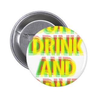 Drink & drive 2 inch round button
