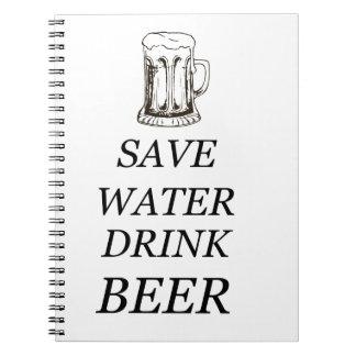 Drink Food Beer Spiral Notebook